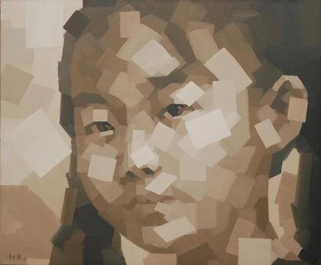 快乐童年-清灵 李月领 150X180cm